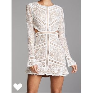 For Love and Lemons Emerie Cutout Dress White L